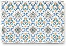 Vintage türkische Fliese Willkommen Fußmatte