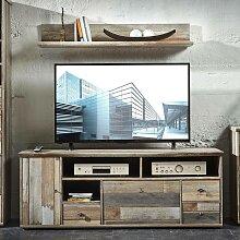 Vintage TV-Unterschrank Set mit Wandregal