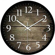 Vintage Uhr Wanduhr, Likeluk 12 Zoll (30cm) Modern Quartz Lautlos Wanduhr ohne Ticken