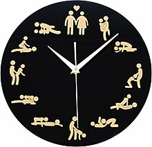 Vintage Uhr Wanduhr, Likeluk 12 Zoll(30cm) Sex Quartz Lautlos Wanduhr ohne Ticken