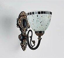 Vintage Wandlampe, Dimmbar Glasschirm Kreativ
