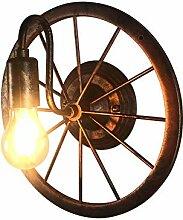 Vintage Wandlampe, Industriestil Nostalgie Rad