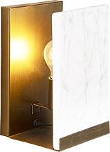 Vintage Wandlampe Marmor mit antikem Messing - Ouse
