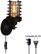 Vintage Wandlampe Retro Industrial Käfig