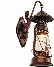 Vintage Wandlampe Schmiedeeisen Persönlichkeit
