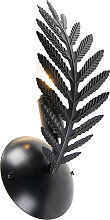 Vintage Wandlampe schwarz - Botanica