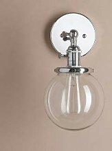 Vintage Wandlampe, silber