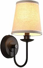 Vintage Wandlampe Textil E27 Interieur Metall