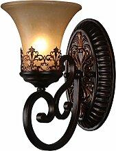 Vintage-Wandleuchte 1 Leuchten mit HarzMaterial Glasschirmen Bett Wohnzimmer Flur Lichter