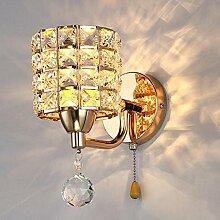 Vintage Wandleuchte, Frideko Moderne Stil Kristall Wandlampe Flurlampe für Loft Wohnzimmer Esszimmer Cafeteria Restauran
