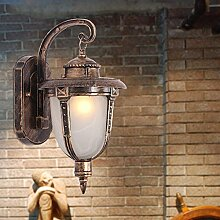Vintage Wandleuchte Industrial Style (Glas