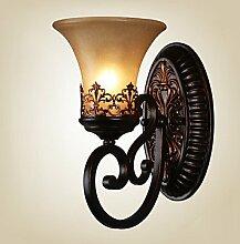 Vintage Wandleuchten mit Harz Material Glas Schatten Bett Wohnzimmer Wohnzimmer Flur Leuchten