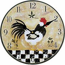 Vintage Wanduhr Rustikale Shabby Chic Küche Zu Hause Aus Holz Wanddekoration Dekor - 06, Maßstab 1/6