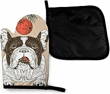 Vintage Weihnachten Französisch Bulldogge Hund