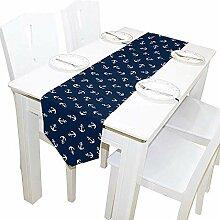 Vintage White Anchor Tischläufer, Tischdecke