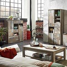 Vintage Wohnzimmerset mit Highboard Hochschrank &
