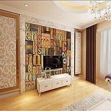 Vintage Ziegel Tapeten 3D Wandbilder Englisch