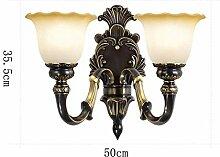 Vintage Zinklegierung Wandlampe Nachahmung Marmor