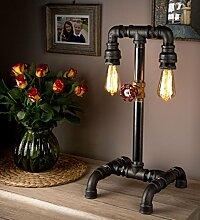 Vintagelampe im Retrolook und Rohrleuchte – das perfekte Steampunk-Möbelstück für das Wohnzimmer - LUXMA
