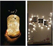 Vinteky® 200er Mini LED Lichterkette für Bars, Partys, Fenster, Club, Blumendekor, LED-Licht Auswahl warm-weiß, weiß, blau, bunt Beleuchtung (Gelb)