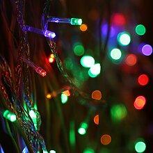 Vinteky® 400er Mini LED Lichterkette für Weihnachten Blumendekor Hochzeit Zimmer Dekoration Beleuchtung (Bunt)