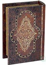 Vintiquewise Buch Box, Holz, Antik Braun, klein