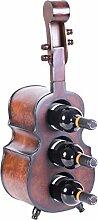 Vintiquewise Weinregal aus Holz für 3 Flaschen,