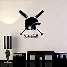 Vinyl Aufkleber Baseball Helm Fledermaus Sport