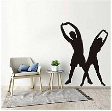 Vinyl Aufkleber Für Schlafzimmer Yoga Pose