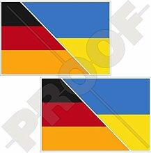 Vinyl-Aufkleber für Stoßstange, Deutschland,