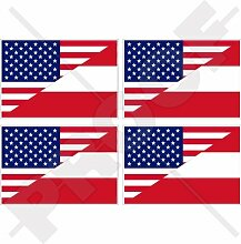 Vinyl-Aufkleber mit USA- und Österreich-Flagge,