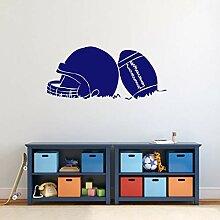 Vinyl-Aufkleber, Motiv Fußball und Helm,