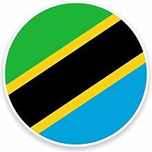 Vinyl-Aufkleber, Motiv: Tanzania-Flagge, für