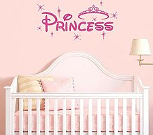 Vinyl Aufkleber Prinzessin Crown Kunstwand