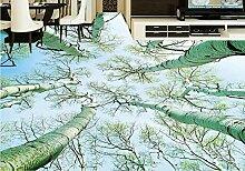 Vinyl Bodenbelag Tapete-Roll-Größe schöne Wald