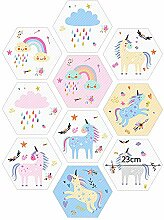 Vinyl-Bodenfliesen-Aufkleber für Kinderzimmer,