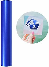 Vinyl-Klebefolie, matt, metallisch, blau, 3 x 152