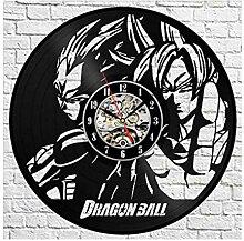 Vinyl Schallplatte Wanduhr Cartoon Dragon Ball 3D