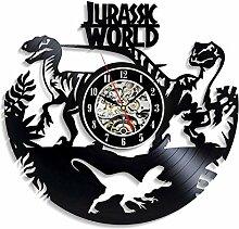 Vinyl Schallplatte Wanduhr Dinosaurier Tier