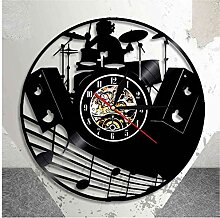 Vinyl Schallplatte Wanduhr Drum Kit Record CD