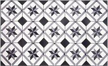 Vinyl-Teppich mit Zementfliesen-Motiven 50x80