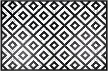 Vinyl-Teppich, schwarz und weiß, gemustert 100x150