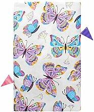 Vinyl-Tischdecke, auffällig Bunte Schmetterlinge