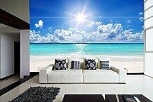 Vinyl Wand relaxen Strand   Fototapete für Wände