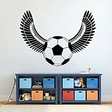 Vinyl Wandaufkleber Fußball Ball Flügel Fußball