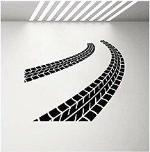 Vinyl Wandaufkleber Reifen Spur Fahrer Garage Auto
