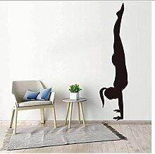 Vinyl Wandaufkleber Wandkunst Aufkleber Handstand