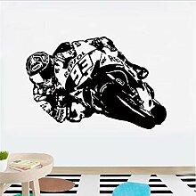 Vinyl Wandkunst Aufkleber Motorrad Moto Racer