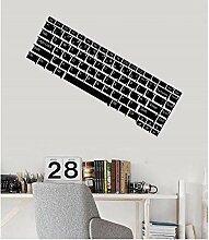 Vinyl Wandtattoo Computer Tastatur ES Gamer Teen