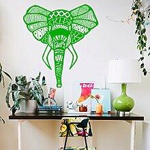Vinyl Wandtattoo Elefant Afrika Mandala Yoga Zen